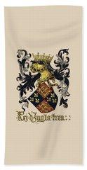 King Of England Coat Of Arms - Livro Do Armeiro-mor Beach Towel by Serge Averbukh