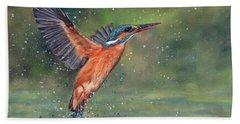 Kingfisher Beach Towel by David Stribbling