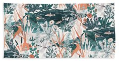 Kingfisher Beach Towel by Jacqueline Colley