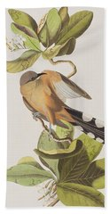 Mangrove Cuckoo Beach Towel by John James Audubon