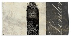 Moon Over London Beach Towel by Mindy Sommers
