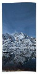 Mountain Reflection Beach Towel by Frank Olsen