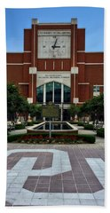 Oklahoma Memorial Stadium Beach Towel by Center For Teaching Excellence