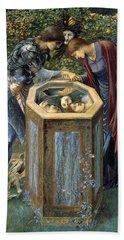 The Baleful Head Beach Towel by Edward Burne-Jones
