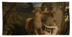 The Education Of Achilles Beach Towel by James Barry