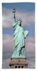 The Statue Of Liberty Beach Sheet by American School