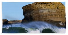 Beach Sheet featuring the photograph The Wave by Thierry Bouriat