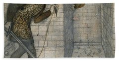 Theseus And The Minotaur In The Labyrinth Beach Sheet by Edward Burne-Jones