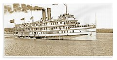 Beach Sheet featuring the photograph Thousand Islands Ferry Boat 1906 Vintage Photograph by A Gurmankin