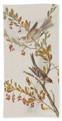 Tree Sparrow Beach Towel by John James Audubon