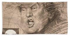 Trump Beach Towel by Ylli Haruni