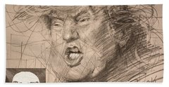 Trump Beach Sheet by Ylli Haruni