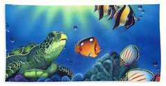 Turtle Dreams Beach Sheet by Angie Hamlin