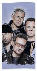 U2 Beach Sheet by Melanie D