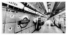 Underground London Art Beach Towel by David Pyatt
