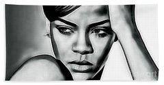 Rihanna Collection Beach Sheet by Marvin Blaine