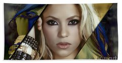 Shakira Collection Beach Towel by Marvin Blaine