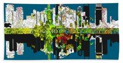 Tokyo Skyline Beach Sheet by John Groves