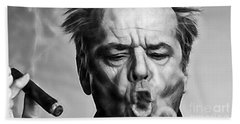 Jack Nicholson Collection Beach Towel by Marvin Blaine