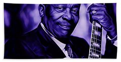 Bb King Collection Beach Sheet by Marvin Blaine