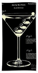 1897 Dirty Martini Patent Beach Towel by Jon Neidert