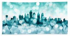Philadelphia Pennsylvania Skyline Beach Sheet by Michael Tompsett