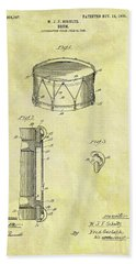 1905 Drum Patent Beach Towel by Dan Sproul