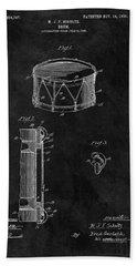 1905 Drum Patent Illustration Beach Towel by Dan Sproul