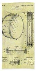 1908 Drum Patent Beach Towel by Dan Sproul