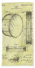 1908 Drum Patent Beach Sheet by Dan Sproul