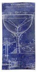 1941 Ludwig Drum Patent Blue Beach Towel by Jon Neidert