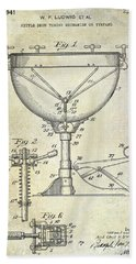 1941 Ludwig Drum Patent  Beach Towel by Jon Neidert