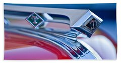 1949 Diamond T Truck Hood Ornament 3 Beach Sheet by Jill Reger