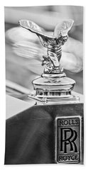 1952 Rolls-royce Silver Wraith Hood Ornament 2 Beach Sheet by Jill Reger