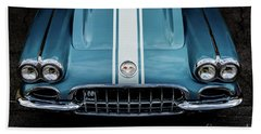 Beach Towel featuring the photograph 1960 Corvette by M G Whittingham