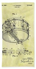 1963 Drum Patent Beach Towel by Dan Sproul