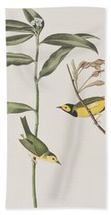 Hooded Warbler  Beach Sheet by John James Audubon