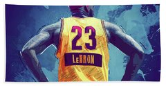 Lebron James Beach Towel by Semih Yurdabak