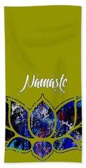 Namaste Beach Towel by Marvin Blaine