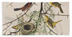 Orchard Oriole Beach Sheet by John James Audubon