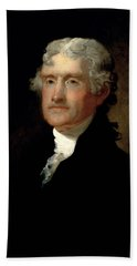 President Thomas Jefferson  Beach Towel by War Is Hell Store
