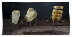 Simple Things - Potatoes Beach Towel by Nailia Schwarz
