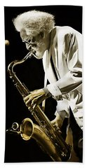 Sonny Rollins Collection Beach Sheet by Marvin Blaine