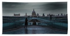St Paul's Cathedral Beach Towel by Martin Newman