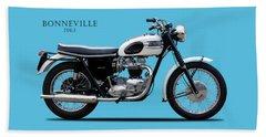 Triumph Bonneville 1963 Beach Sheet by Mark Rogan