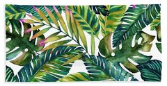Tropical  Beach Towel by Mark Ashkenazi