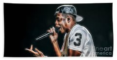 Jay Z Collection Beach Sheet by Marvin Blaine