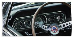 1966 Ford Mustang Cobra Steering Wheel Beach Towel by Jill Reger