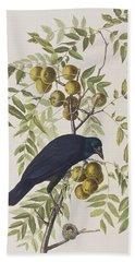 American Crow Beach Towel by John James Audubon