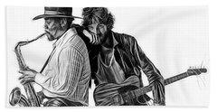 Bruce Springsteen Clarence Clemons Collection Beach Sheet by Marvin Blaine
